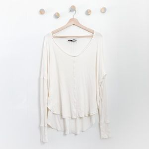 Anthropologie Saturday Sunday Waffle Thermal Top